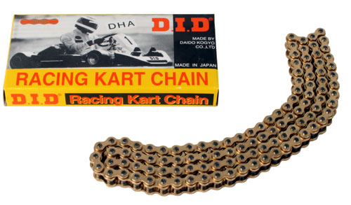 "D.I.D Chain, ""DHA"" High Spec. Gold & Gold - 96 Link"